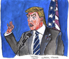 Cartoon: Donald Trump (small) by Pascal Kirchmair tagged donald,trump,karikatur,caricature,cartoon,usa,primaries,presidential,elections,wahlen,präsidentschaftskandidat,republicans,republikaner