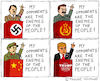 Cartoon: Enemy of the People (small) by Pascal Kirchmair tagged donald,trump,totalitarianism,totalitarian,cartoon,caricature,hitler,nazi,karikatur,totalitär,vignetta,enemy,of,the,american,people,volksfeinde,usa,president,präsident