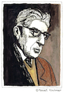 Cartoon: ERNST BLOCH (small) by Pascal Kirchmair tagged ernst bloch portrait retrato ritratto zeichnung drawing dessin dibujo desenho disegno illustration image bild watercolour aquarell ink tusche philosoph philosophy marxist schriftsteller author auteur ecrivain escritor scrittore autore autor