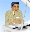 Cartoon: Fats Domino (small) by Pascal Kirchmair tagged fats domino caricature cartoon karikatur drawing dibujo portrait retrato new orleans louisiana desenho dessin zeichnung ritratto tekening portret porträt cartum ilustracao ilustracion illustration illustrazione pascal kirchmairrock roll rhythm and blues piano boogie woogie disegno