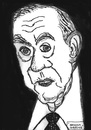Cartoon: Graham Greene (small) by Pascal Kirchmair tagged graham greene schriftsteller writer journalist the third man der dritte mann