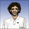 Cartoon: Gustavo Kuerten (small) by Pascal Kirchmair tagged gustavo,kuerten,guga,cartoon,caricature,karikatur,tennis,brasilien,brasil,brazil,bresil,portrait