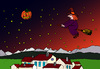 Cartoon: Halloween (small) by Pascal Kirchmair tagged hexenbesen kürbis pumpkin nacht night nuit halloween witches hexe sorciere besen reiten balai broom