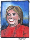 Cartoon: Hillary Clinton (small) by Pascal Kirchmair tagged hillary,diane,rodham,clinton,caricature,karikatur,cartoon,portrait,vignetta,usa,white,house,politics,politiker,politicians,government,aquarell,watercolour
