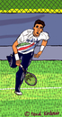 Cartoon: Ivan Lendl (small) by Pascal Kirchmair tagged ivan,lendl,tennis,cartoon,caricature,karikatur,tenis,player,spieler