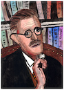 Cartoon: James Joyce (small) by Pascal Kirchmair tagged james joyce portrait retrato dibujo drawing illustration ilustracion ilustracao illustrazione caricature pascal kirchmair caricatura dublin ireland irlanda tekening illustratie portret cartum cartoon