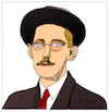 Cartoon: James Joyce (small) by Pascal Kirchmair tagged james joyce caricature cartoon karikatur portrait retrato pascal kirchmair dibujo drawing desenho zeichnung portret ritratto cartum tekening teckning dessin ilustracion ilustracao illustrazione illustration illustratie dublin ireland irlanda