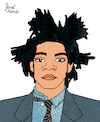 Cartoon: Jean-Michel Basquiat (small) by Pascal Kirchmair tagged jean michel basquiat cartoon caricature karikatur ilustracion illustration portrait retrato pascal kirchmair dibujo desenho drawing zeichnung ritratto disegno ilustracao illustrazione illustratie dessin du jour art of the day tekening teckning cartum vineta comica vignetta caricatura