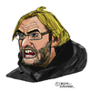 Cartoon: Jürgen Klopp (small) by Pascal Kirchmair tagged jürgen,klopp,caricature,cartoon,portrait,karikatur,dortmund,trainer,fußball,soccer,football,foot,futebol,futbol,calcio,pallone
