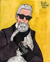 Karl Lagerfeld and Choupette