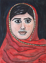 Cartoon: Malala Yousafzai (small) by Pascal Kirchmair tagged malala,yousafzai,caricature,karikatur,cartoon,vignetta,portrait,peace,nobel,prize,friedensnobelpreis,pakistan,kinderrechte