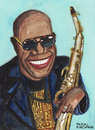 Cartoon: Manu Dibango (small) by Pascal Kirchmair tagged manu dibango caricature afrika africa afrique yabassi duala image bild karikatur cartoon pascal kirchmair illustration saxophonist vibraphonist pianist kamerun cameroun musicien musiker douala jazz musician chanteur sänger singer funk world music traditio