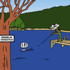 Cartoon: No Fishing (small) by Pascal Kirchmair tagged cartoon,angeln,fischen,no,fishing,verboten,jäger,fisher,fischer,chasseur,chasser,pecher,peche,interdite,divieto,di,pesca
