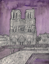 Cartoon: Notre-Dame de Paris (small) by Pascal Kirchmair tagged aquarell cathedral cathedrale kathedrale cattedrale gotico eglise iglesia chiesa burning in flammen igreja church catedral parigi notre dame de paris watercolour watercolor illustration ilustracion ilustracao pascal kirchmair dibuix drawing zeichnung cartoon caricature karikatur dibujo desenho ink disegno illustrazione illustratie dessin du jour art of the day tekening teckning aquarelle acquarello acuarela aguarela aquarela gothic gotik gothique pencil bleistift bleistiftzeichnung