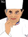 Cartoon: Paul Bocuse (small) by Pascal Kirchmair tagged paul,bocuse,chef,cuisinier,illustration,drawing,zeichnung,pascal,kirchmair,cartoon,caricature,karikatur,ilustracion,dibujo,desenho,ink,disegno,ilustracao,illustrazione,illustratie,dessin,de,presse,du,jour,art,of,the,day,tekening,teckning,cartum,vineta,comica,vignetta,caricatura,portrait,retrato,ritratto,portret,lyon,france,gastronomie,chefkoch,koch,gastronom