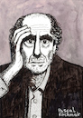 Cartoon: PHILIP ROTH (small) by Pascal Kirchmair tagged philip roth portrait retrato dibujo dessin drawing ritratto disegno illustration pascal kirchmair caricature usa newark new jersey ilustracao ilustracion portret cartum desenho karikatur cartoon