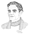Cartoon: Pier Paolo Pasolini (small) by Pascal Kirchmair tagged pier paolo pasolini cartoon caricature karikatur ilustracion illustration portrait retrato pascal kirchmair dibujo desenho drawing zeichnung ritratto disegno ilustracao illustrazione illustratie dessin du jour art of the day tekening teckning cartum vineta comica vignetta caricatura ecrivain schriftsteller writer author auteur autore autor film director regisseur poet metteur en scene realisateur