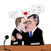 Cartoon: Putin und Janukowytsch (small) by Pascal Kirchmair tagged putin,wladimir,wiktor,janukowitsch,ukraine,russland,karikatur,political,cartoon,caricature