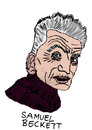 Cartoon: Samuel Beckett (small) by Pascal Kirchmair tagged warten auf en attendant godot irisch dublin samuel beckett literatur nobelpreis schriftsteller writer author poet autor auteur ecrivain poete