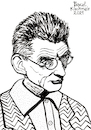 Cartoon: Samuel Beckett (small) by Pascal Kirchmair tagged samuel,beckett,waiting,for,warten,auf,en,attendant,godot,dublin,irland,ireland,irlanda,irlande,literatur,literature,schriftsteller,author,autor,autore,auteur,writer,illustration,ink,drawing,tusche,tuschezeichnung,zeichnung,pascal,kirchmair,cartoon,caricature,karikatur,ilustracion,dibujo,desenho,disegno,ilustracao,illustrazione,illustratie,dessin,de,presse,du,jour,art,of,the,day,tekening,teckning,cartum,vineta,comica,vignetta,caricatura,portrait,porträt,portret,retrato,ritratto
