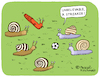 Cartoon: The Streaker (small) by Pascal Kirchmair tagged flitzer nackt schnecken escargots snails streaker slug babosa limace limaccia chiocciola caracol cartoon caricature karikatur drawing dibujo vineta comica cartum desenho dessin zeichnung humour humor