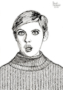 Cartoon: Twiggy (small) by Pascal Kirchmair tagged pop,culture,kultur,phänomen,cultural,icon,twiggy,model,swinging,sixties,sechziger,jahre,portrait,retrato,ritratto,porträt,coco,chanel,fashion,mode,label,moda,vogue,humour,umorismo,humorous,spirito,humor,karl,lagerfeld,illustration,drawing,zeichnung,pascal,kirchmair,political,cartoon,caricature,karikatur,ilustracion,dibujo,desenho,ink,disegno,ilustracao,illustrazione,illustratie,dessin,de,presse,tekening,teckning,cartum,vineta,comica,vignetta,caricatura
