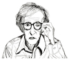Cartoon: Woody Allen (small) by Pascal Kirchmair tagged woody,allen,portrait,retrato,drawing,illustration,zeichnung,ilustracion,ilustracao,dibujo,desenho,dessin,disegno,ritratto,pascal,kirchmair,caricature,karikatur,cartoon,tekening,portret,cartum,teckning,caricatura,karikatür