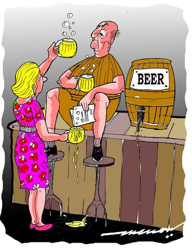 Cartoon: Beercycling (medium) by kar2nist tagged beer,pubs,recycling