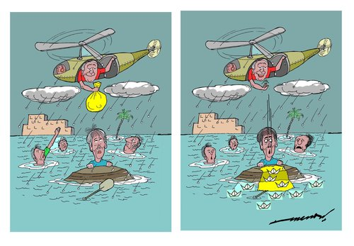 Cartoon: rescue (medium) by kar2nist tagged rescue,drowning,diaster