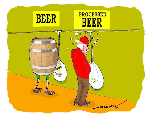 Cartoon: The processing Factory (medium) by kar2nist tagged beer,urine,human,body