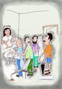 Cartoon: Blood Donation Camp (small) by kar2nist tagged blood,donation,mosquitoes,city,life,bank,transfusion