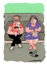 Cartoon: chivalrous hubby (small) by kar2nist tagged wife,knitting,brain,chivalry
