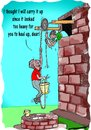 Cartoon: Chivalry (small) by kar2nist tagged chivalry,help,drawing,water,up
