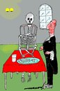 Cartoon: dieting diner (small) by kar2nist tagged dieting,hotels,skeleton