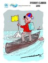 Cartoon: everest climber 2050 (small) by kar2nist tagged everest,climbing,sealevel,globalwarming