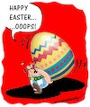 Cartoon: Happy Easter (small) by kar2nist tagged easter,obelix,egg