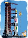 Cartoon: Indo Us Joint Space flight (small) by kar2nist tagged space,flight,indian,ropetrick,us,programme