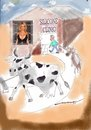 Cartoon: The Pamela Clinic (small) by kar2nist tagged pamela,anderson,cow,milk,udder,silicone,treatment