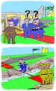 Cartoon: vip visit (small) by kar2nist tagged visit,vip,trench,crossing,military,footbridge