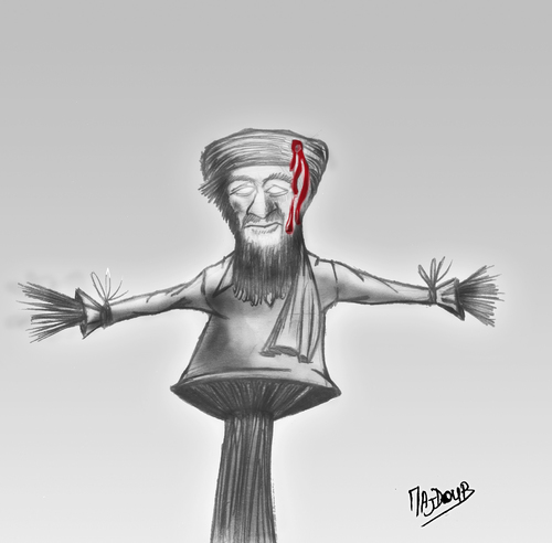 Cartoon: ben Laden (medium) by Majdoub Abdelwaheb tagged ben,laden