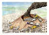 Cartoon: Bella Napoli (small) by Niessen tagged vesuvius vulcan garbage neaples trash fire burning recycling city