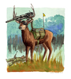 Cartoon: Caccia sportiva (small) by Niessen tagged hunting,deer,gun,defence,forest,competition