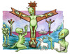 Cartoon: Cristo alieno (small) by Niessen tagged alien,christ,extraterrestre,cross,außerirdisch,jesus,kreuz