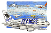 Cartoon: Fly more (small) by Niessen tagged travel airplane tourism sky lowcost