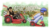 Cartoon: Uomini veri (small) by Niessen tagged cars gardening competition men chickens