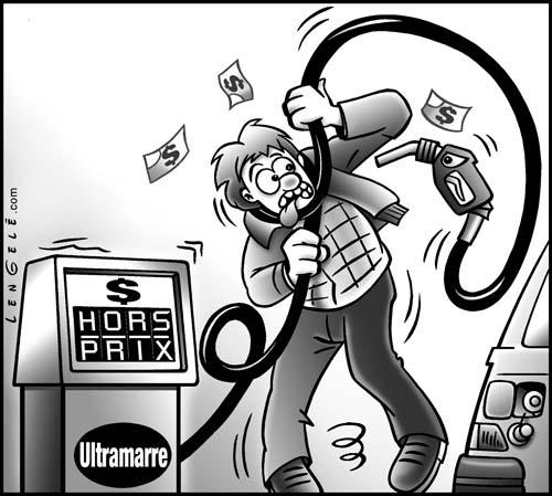 Cartoon: Gas Price (medium) by Carayboo tagged gas,price,finance,money,energy,comic,car,pump,service,opep