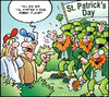 Cartoon: Saint Patrick s day (small) by Carayboo tagged saint,patrick,holiday,parade,kid,history,st,day,green,environment,nature,religion
