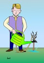 Cartoon: Geduld (small) by berti tagged selbstmord hängen suicide hang baum wachsen giessen tree grow