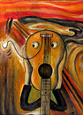 Cartoon: guitar scream (small) by drljevicdarko tagged scream
