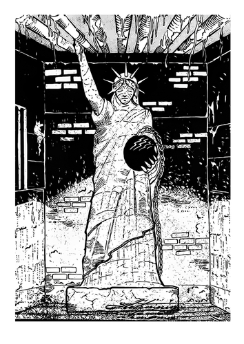 Cartoon: Statue of Liberty (medium) by zlaticanin tagged statue,of,liberty